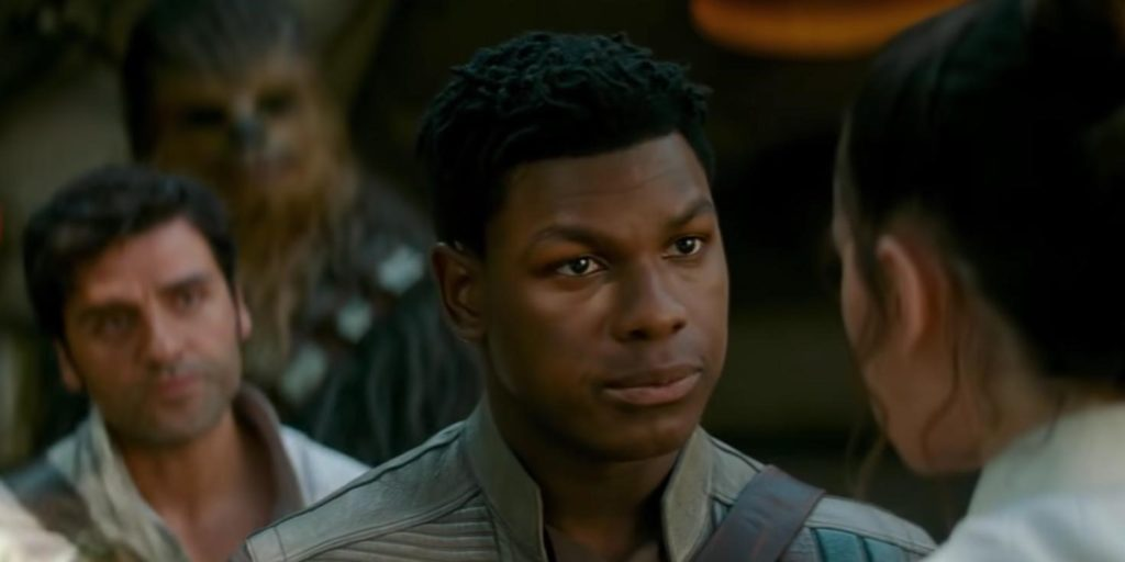 Finn, Poe and Chewy tell Rey there going with her... Together.